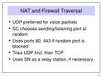 nat and firewall traversal
