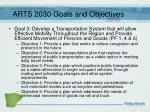 arts 2030 goals and objectives2