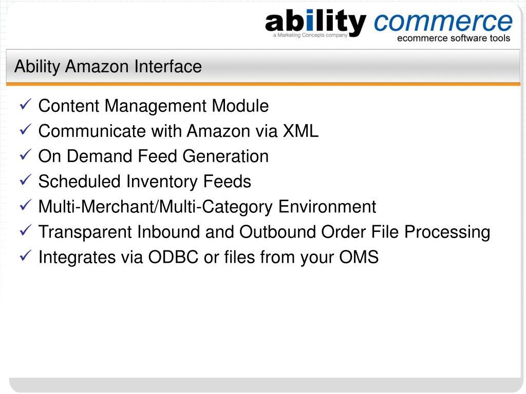 Ability Amazon Interface