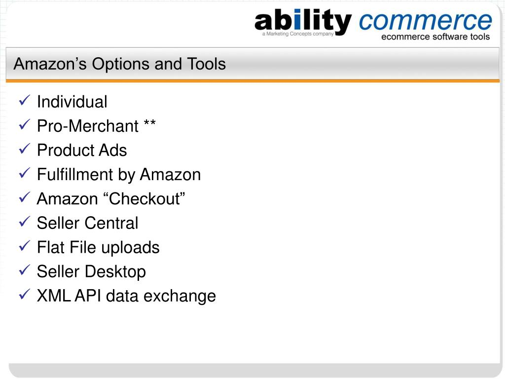 Amazon's Options and Tools