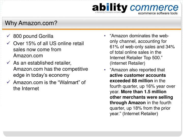 Why amazon com