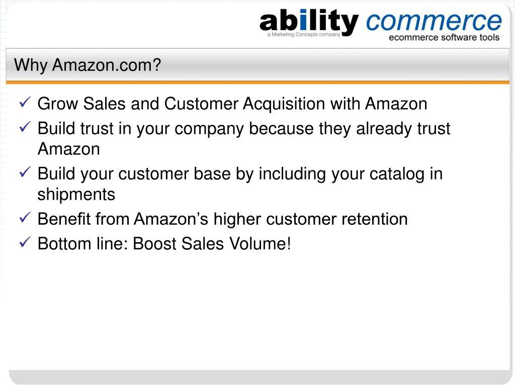Why Amazon.com?