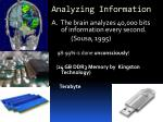 analyzing information