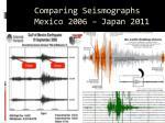 comparing seismographs mexico 2006 japan 2011