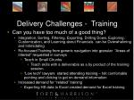 delivery challenges training