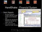 handshake financial system