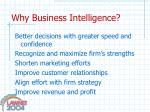 why business intelligence