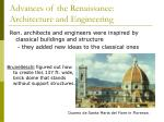 advances of the renaissance architecture and engineering
