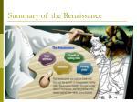 summary of the renaissance