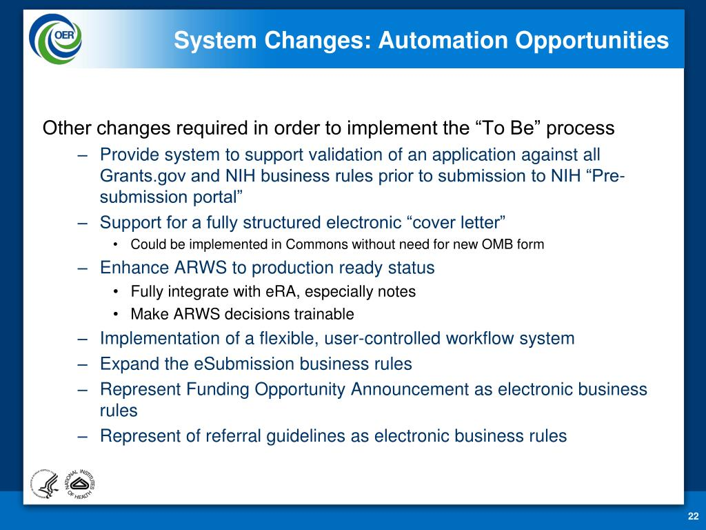 System Changes: Automation Opportunities