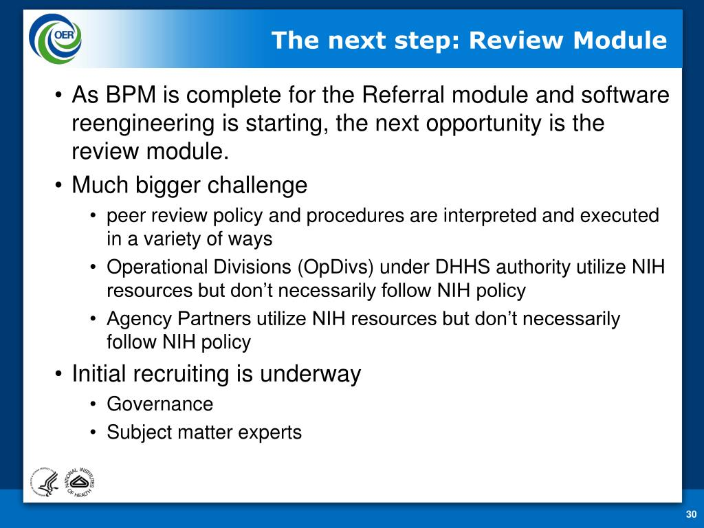 The next step: Review Module