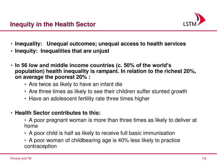 Inequity in the Health Sector