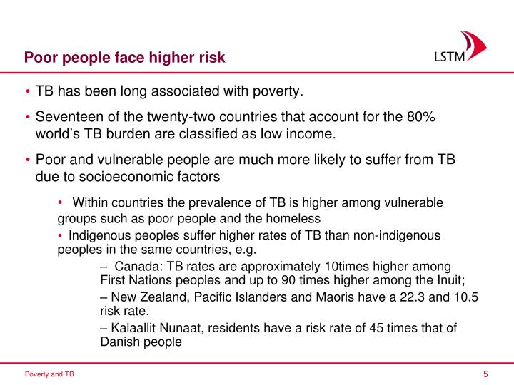 Poor people face higher risk
