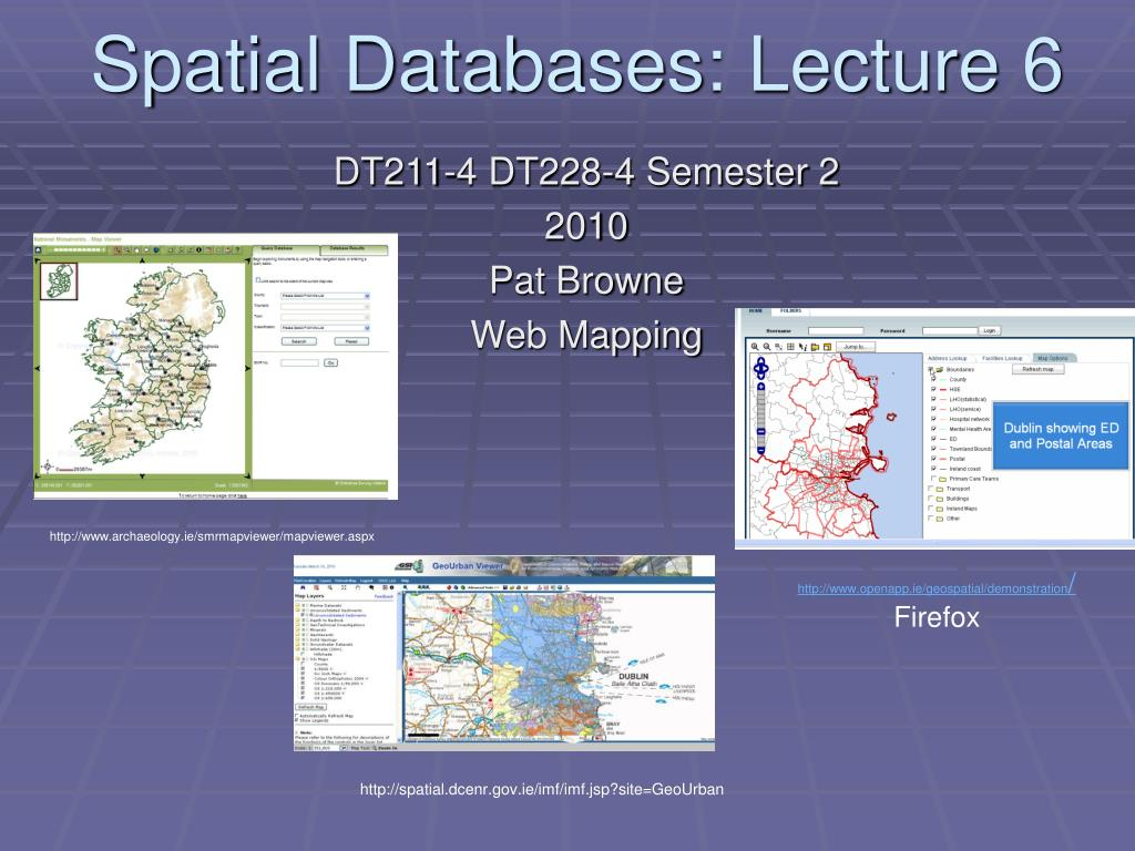 spatial databases lecture 6