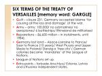six terms of the treaty of versailles memory word gargle