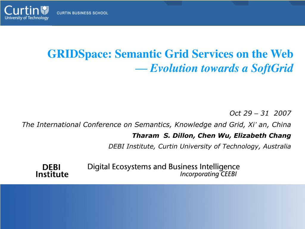 gridspace semantic grid services on the web evolution towards a softgrid l.