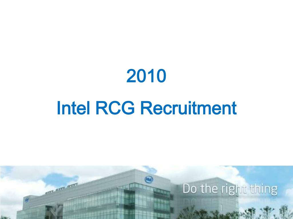 2010 intel rcg recruitment l.