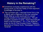 history in the remaking1