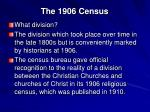 the 1906 census
