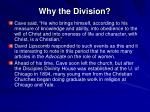 why the division13