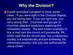 why the division3