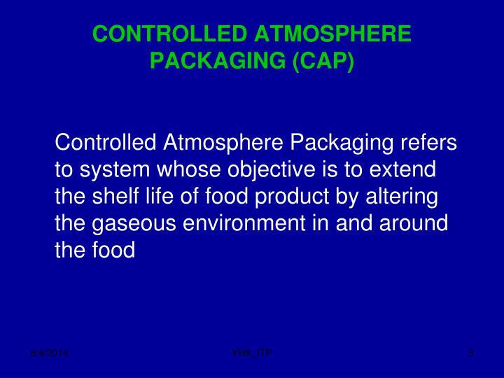 Controlled atmosphere packaging cap