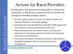 actions for rural providers