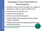 challenges to care coordination in rural hospitals
