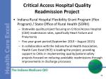 critical access hospital quality readmission project