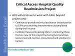 critical access hospital quality readmission project6