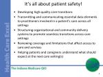 it s all about patient safety