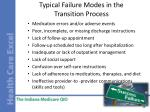 typical failure modes in the transition process