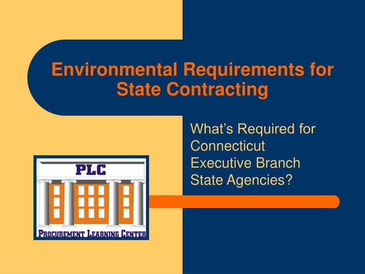 environmental requirements for state contracting n.