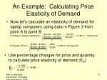 an example calculating price elasticity of demand