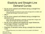 elasticity and straight line demand curves
