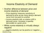 income elasticity of demand2