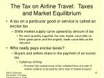 the tax on airline travel taxes and market equilibrium