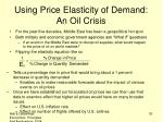 using price elasticity of demand an oil crisis