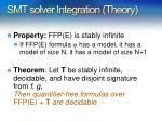 smt solver integration theory