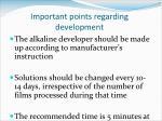 important points regarding development