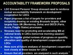 accountability framework proposals