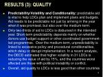 results 3 quality3