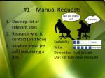 1 manual requests