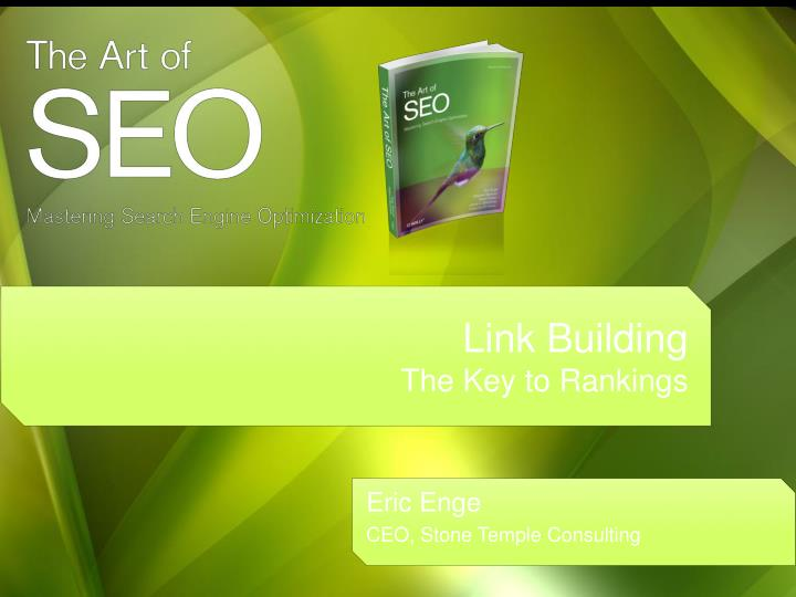 link building the key to rankings n.