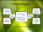 role of relevance