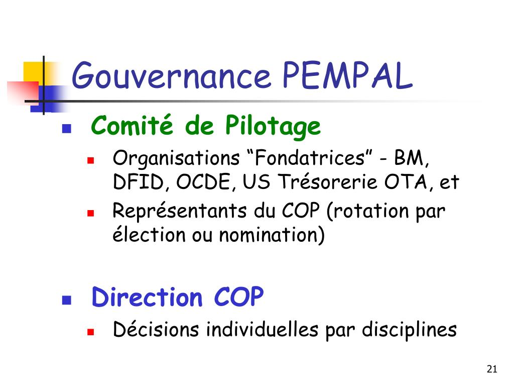 Gouvernance PEMPAL