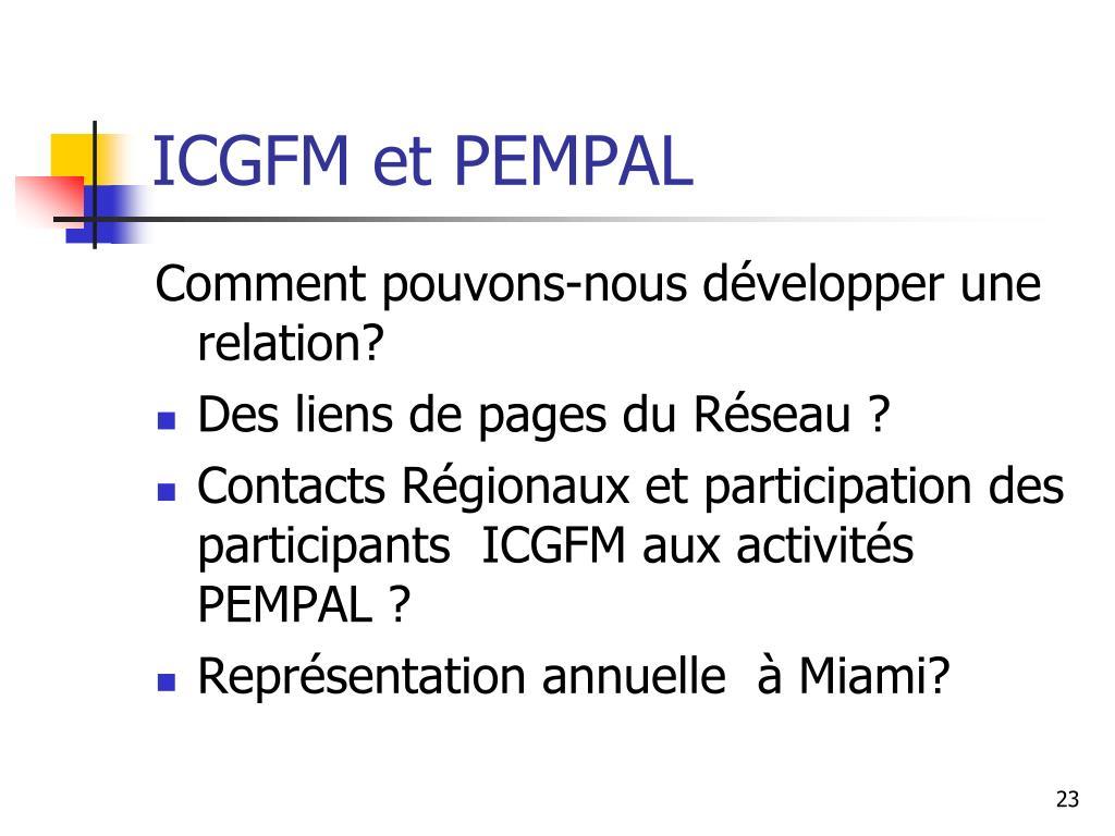 ICGFM et PEMPAL