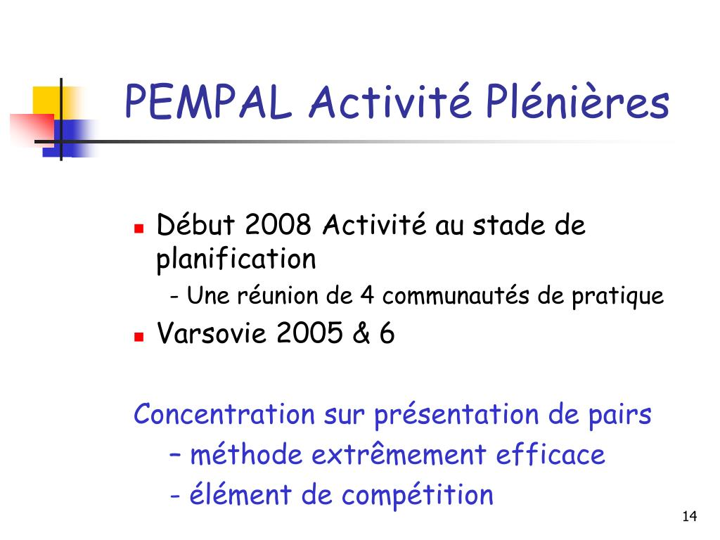 PEMPAL Activité Plénières