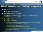 ubot architecture cots components
