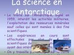 la science en antarctique